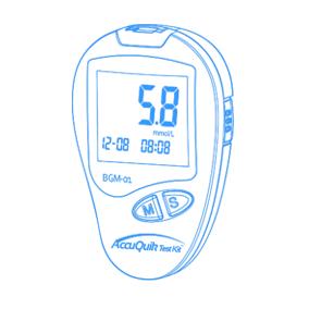 AccuQuik Blood Glucose Monitor shape